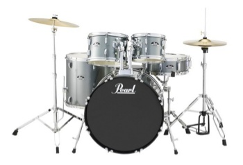 PEARL RS525SC/C706 RS Roadshow 5pc Drum Set W/hdw & Cymbals, Charcoal Met