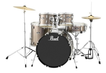 PEARL RS525SC/C707 RS Roadshow 5pc Drum Set W/hdw & Cymbals, Bronze Met