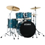 TAMA IP52KCHLB Imperial Star 5 Pc Drum Set w/Cymbals Hairline  Blue