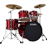 TAMA IP52KCVTR Imperial Star 5pc Drum Set w/Hdware, Cymbals Vintage Red