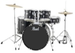 Pearl Roadshow 5 Piece Drum Set w/Hardware and Cymbals Black