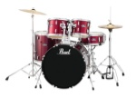 PEARL RS525SC/C91 Roadshow 5pc Drum Set w/Hdw & Cymbals, Wine Red