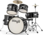 "STAGG TIMJR5/16BK 5 Piece Jr Drum Set 16"" Bass Drum Black"