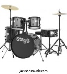 "STAGG TIM120BBK Stag Drumset 5 pce 20"" Bdrum Black"