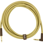 Fender Deluxe Series Instrument Cable Straight/Right Angle Tweed