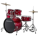 Ludwig Accent Drive 5pcDrum Set Red