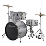 Ludwig Accent Drive 5pcDrum Set Silver