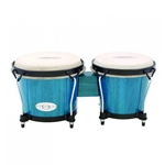 Toca 2100BB Wood Bongos, Bahama Blue