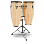LP LPA646AW Aspire Series Wood Conga Set w/Stand, Natural