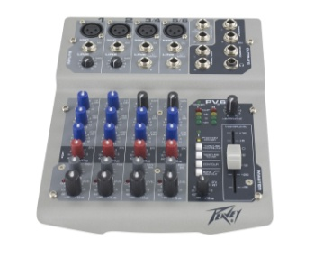 PEAVEY PV6USB 6 Channel Non-Powered Mixer w/USB