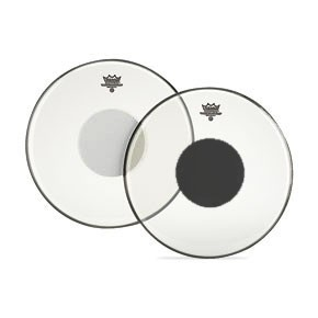 Controlled Sound Clear/Black Dot Drumhead - 14""