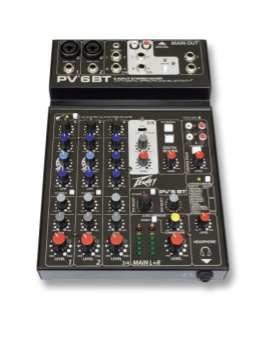 PEAVEY 03612590 PV 6 Bluetooth 6 Input Stereo Mixer
