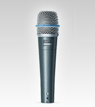 SHURE BETA57A SUPERCARDIOID DYNAMIC INSTRUMENT MICROPHONE