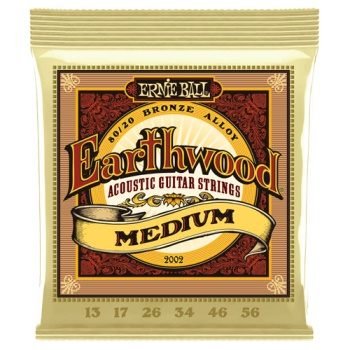 Ernie Ball 2002 Earthwood Medium 80/20 Bronze Acou Guitar Set