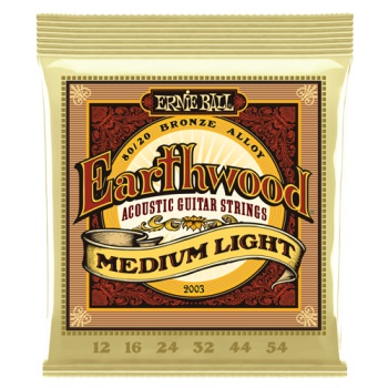 Ernie Ball 2003 Earthwood Med-Lt 80/20 Bronze Acou Guitar Strings