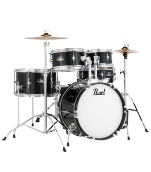 Pearl Roadshow Jr 5pc Drumset Black