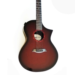 CA GX Series Acou/El Guitar Wine Red